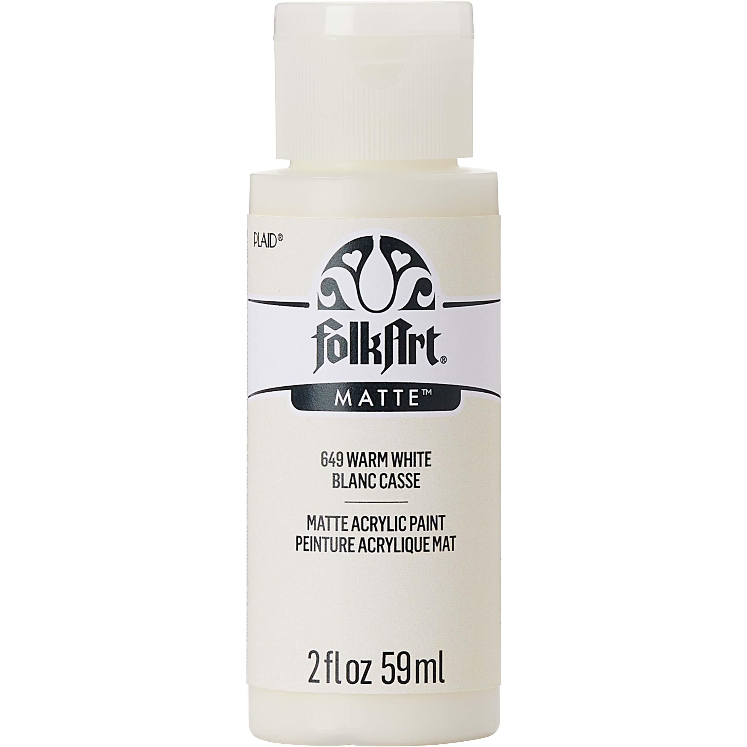 FolkArt ® Acrylic Colors - Warm White, 2 oz. - 649