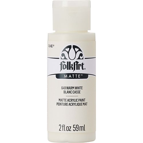 FolkArt ® Acrylic Colors - Warm White, 2 oz.