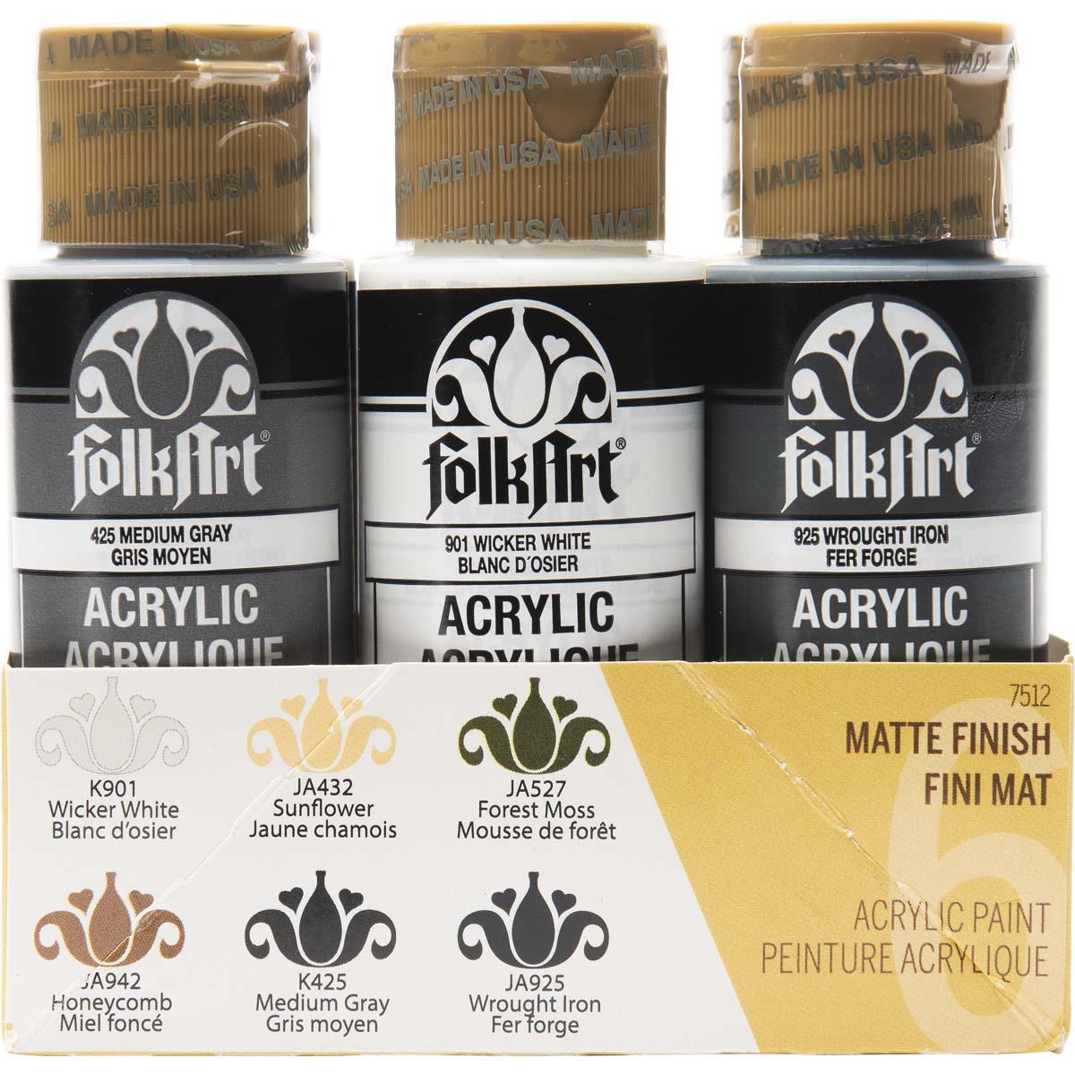 FolkArt ® Acrylic Colors Paint Set 6 Color - Farmhouse - 7512