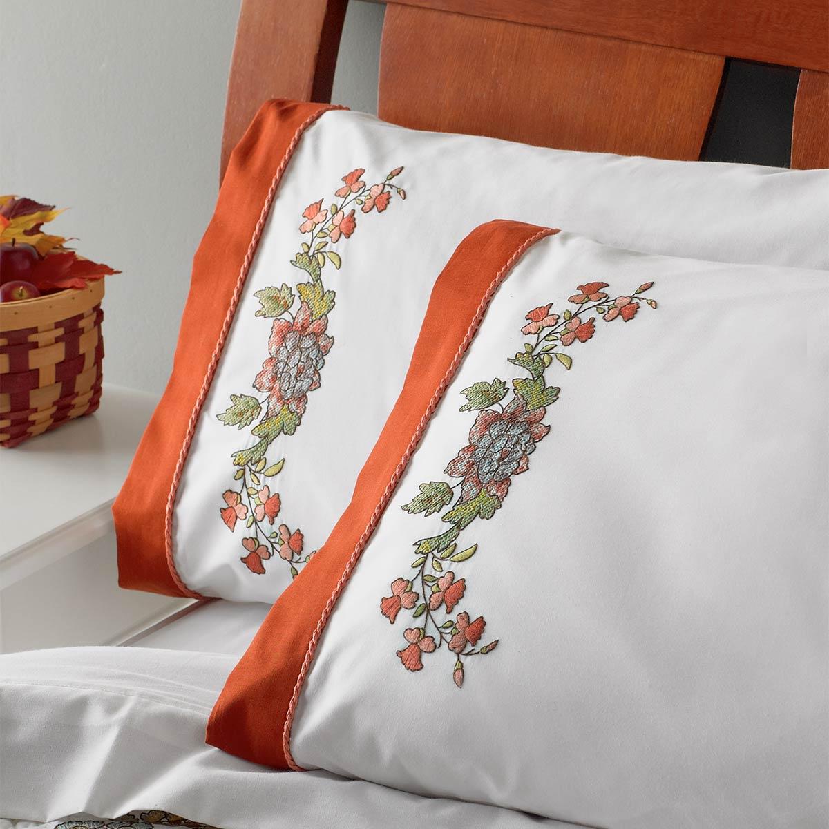 Bucilla ® Waverly ® Charleston Chirp Collection Stamped Pillowcase Pair