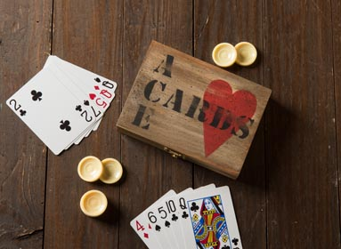 DIY Gift for Bridge Player - Decorated Card Holder