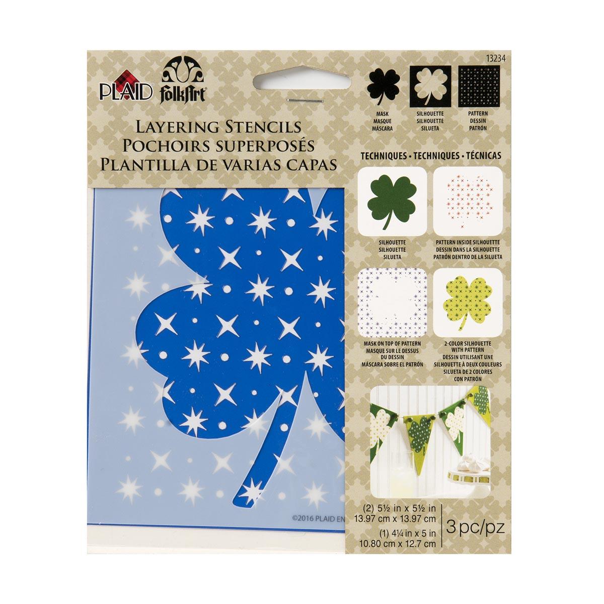 FolkArt ® Layering Stencils - Shamrock - 13234