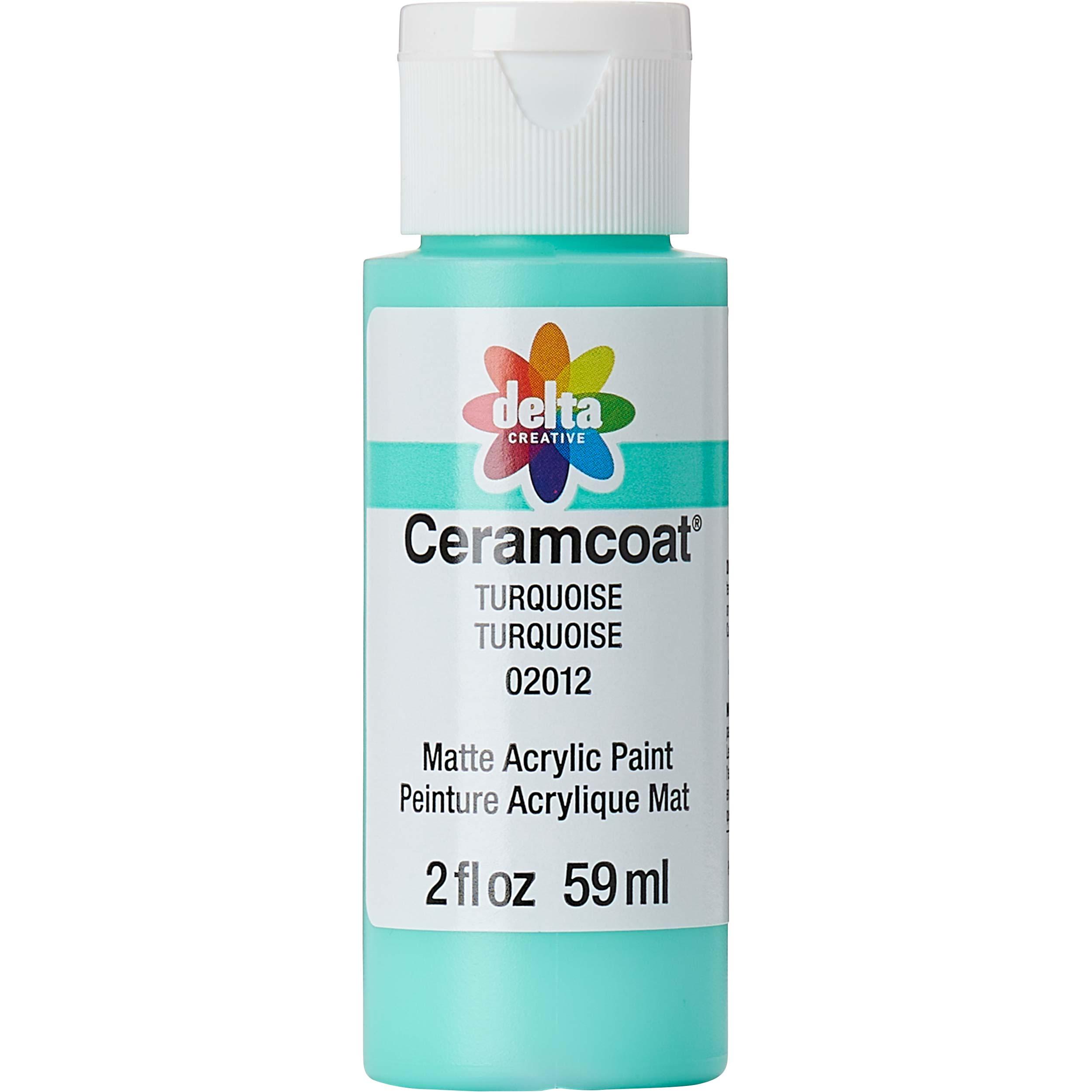 Delta Ceramcoat ® Acrylic Paint - Turquoise, 2 oz. - 020120202W