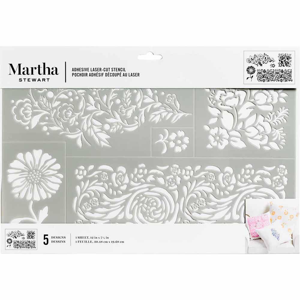 Martha Stewart ® Adhesive Stencil - Elegant Floral - 5980