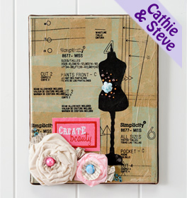 Sewing Pattern Collage Canvas