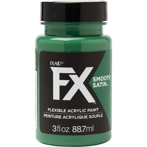 PlaidFX Smooth Satin Flexible Acrylic Paint - Green Empire, 3 oz. - 36856