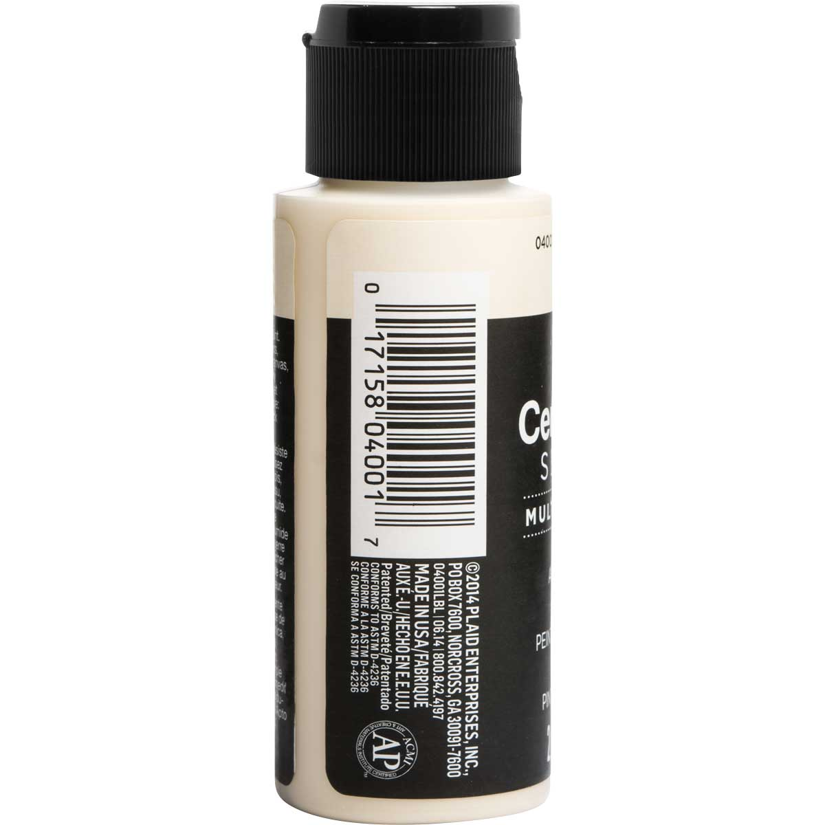 Delta Ceramcoat ® Select Multi-Surface Acrylic Paint - Satin - Ivory, 2 oz. - 04001