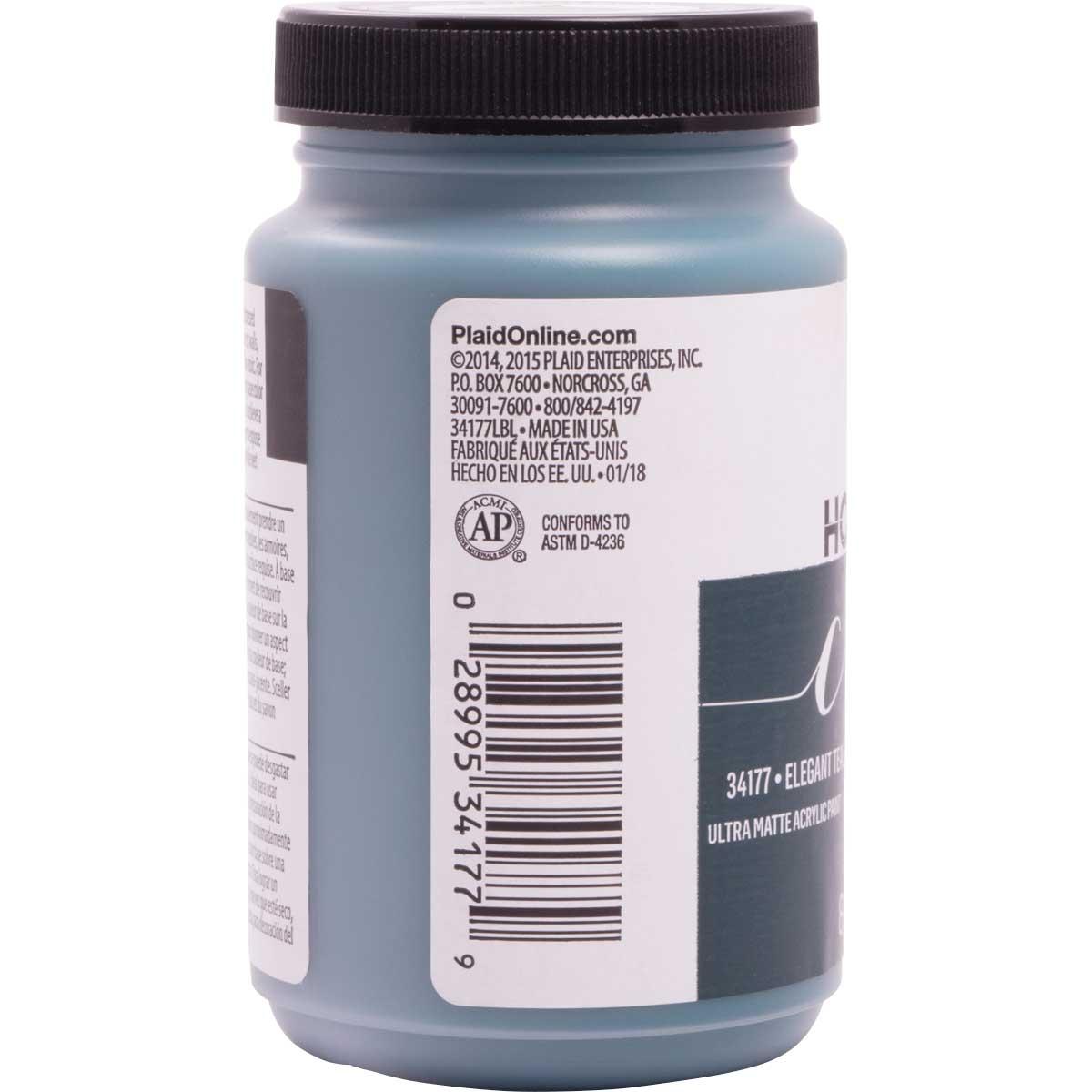 FolkArt ® Home Decor™  Chalk - Elegant Teal, 8 oz.
