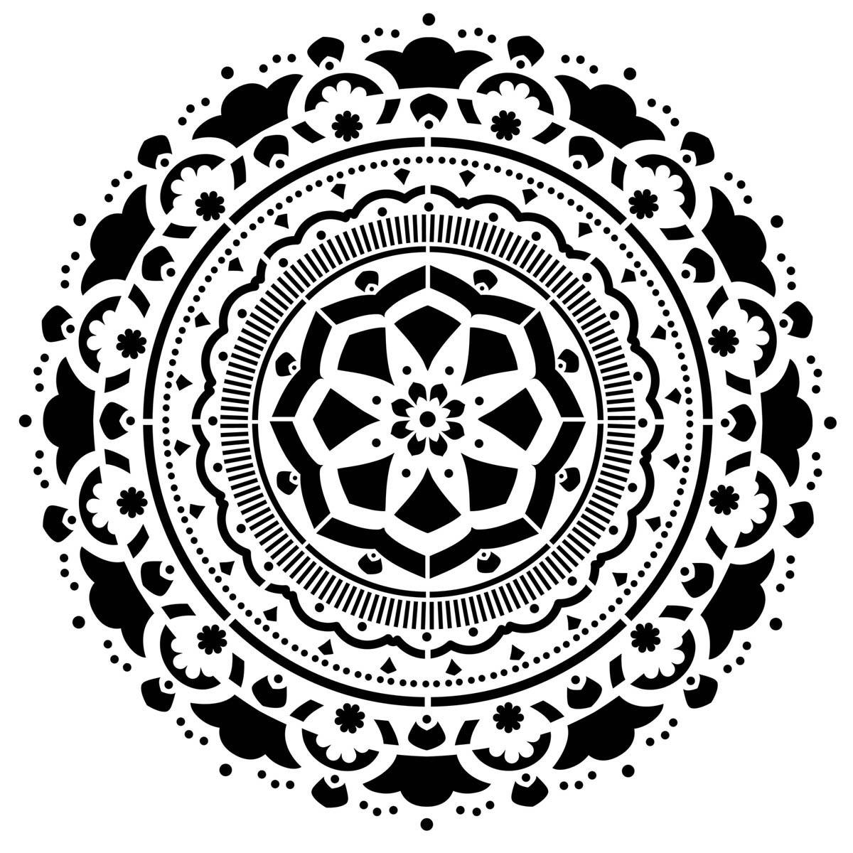 FolkArt ® Painting Stencils - Large - Mandala Burst - 31584