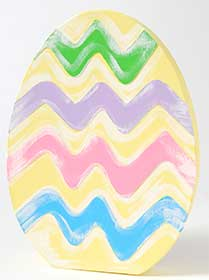 Large Painted Paper Mache Easter Egg Set