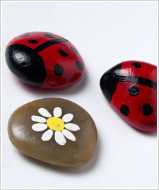Lady Bug Rocks