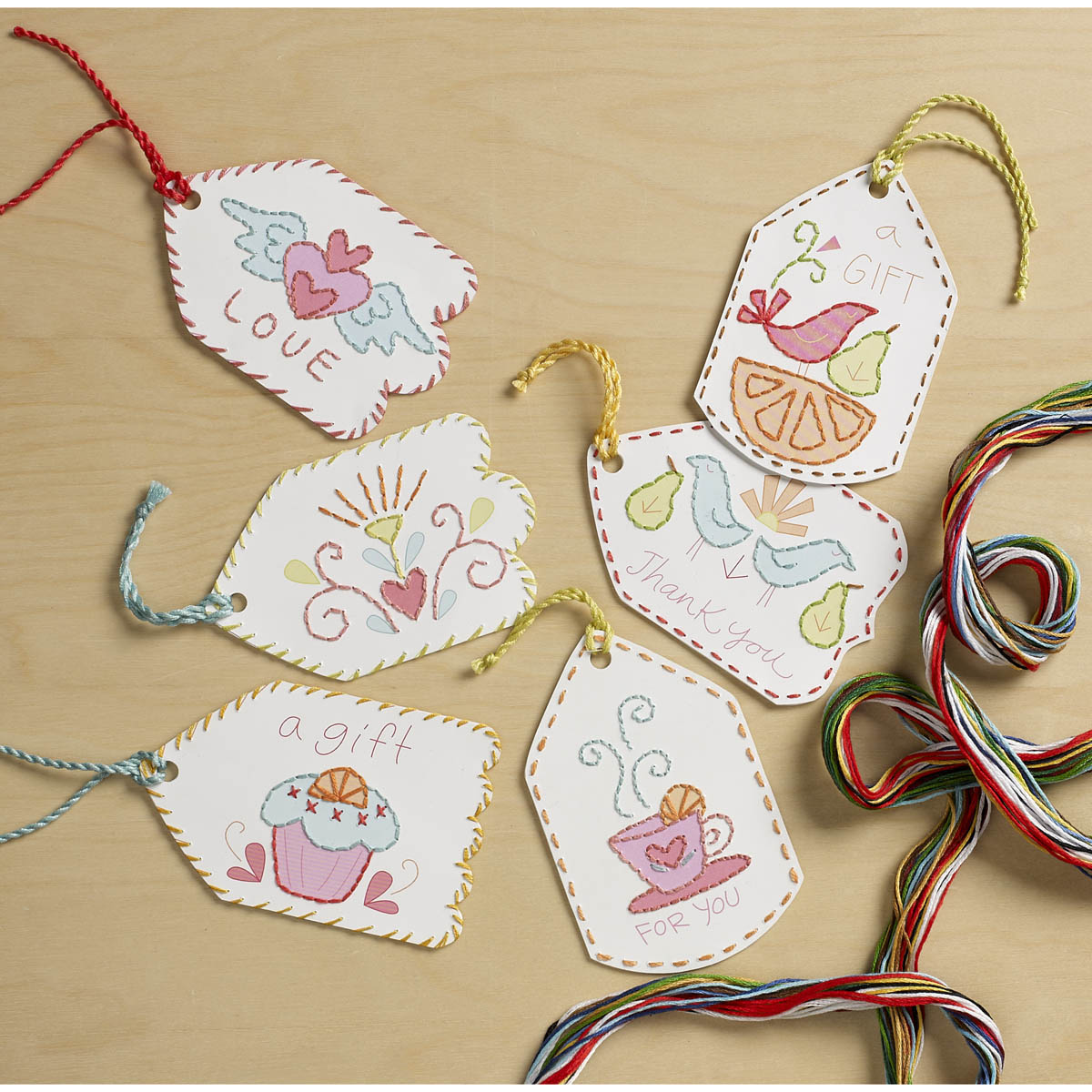 Bucilla ® Paper Stitching - Gift Tags - Sweet Sentiments