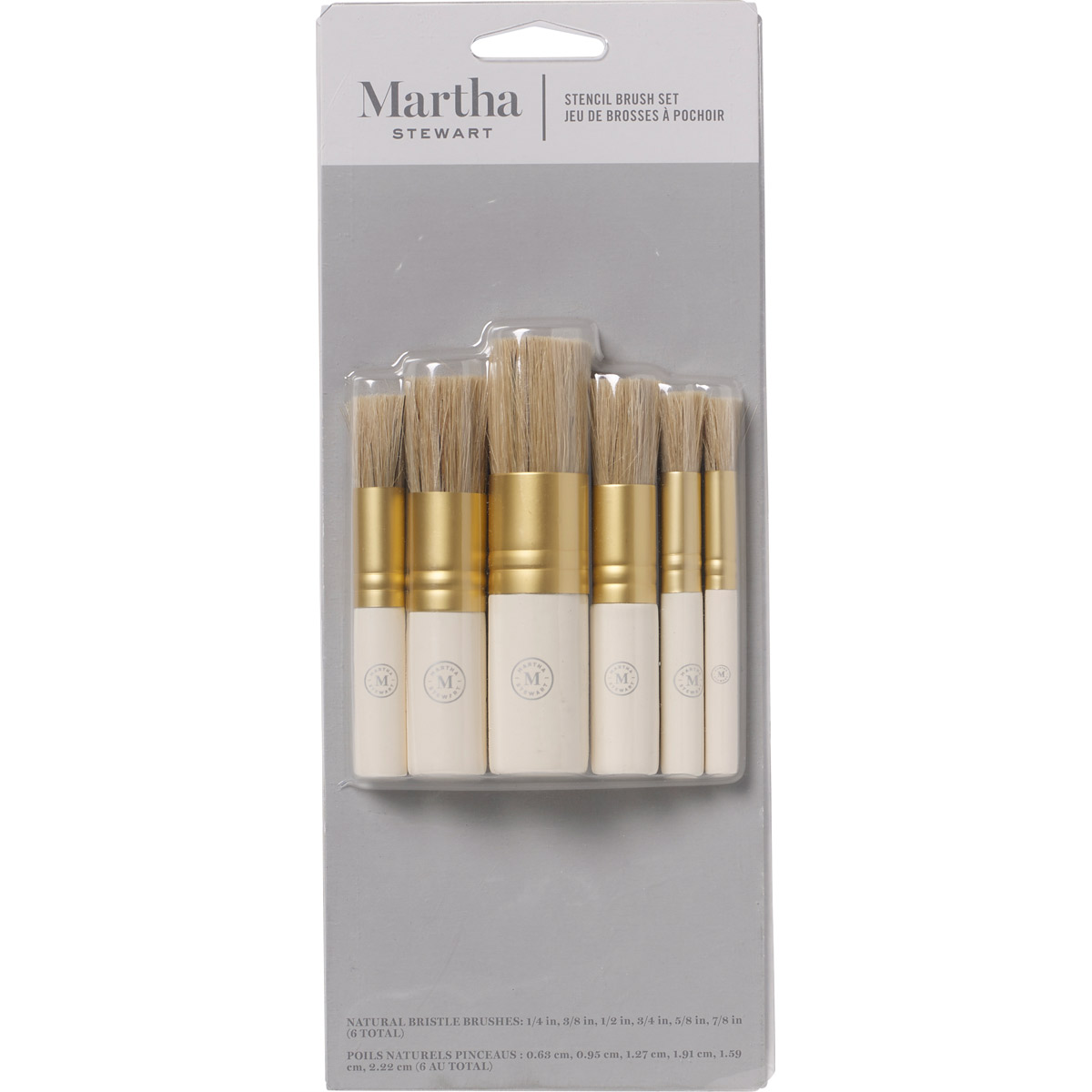 Martha Stewart ® Brush Sets - Stencil Brush Set - 6 pc. - 32248