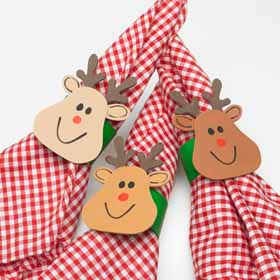 DIY Christmas Napkin Holders