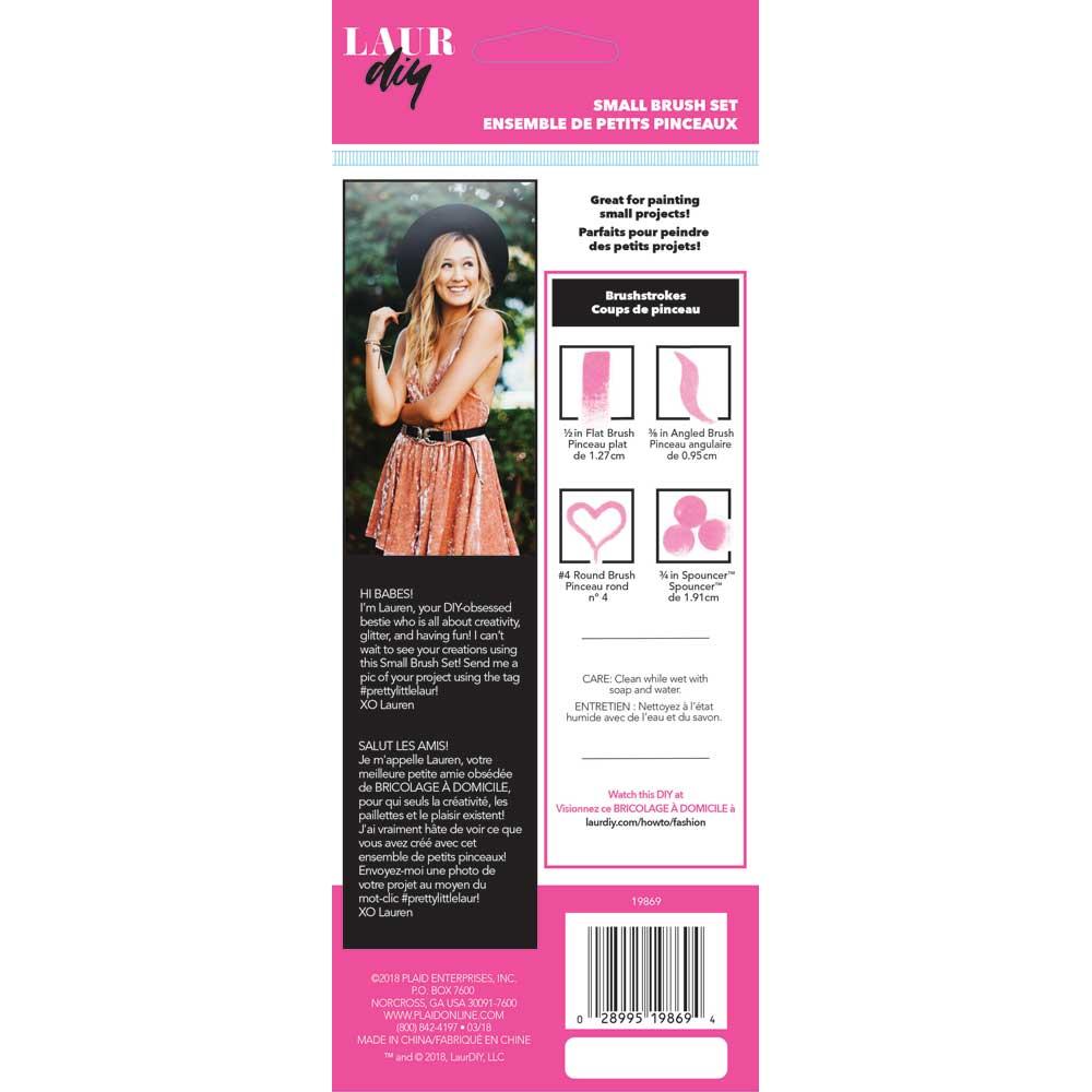LaurDIY ® Brush Set - Small, 4 pc.