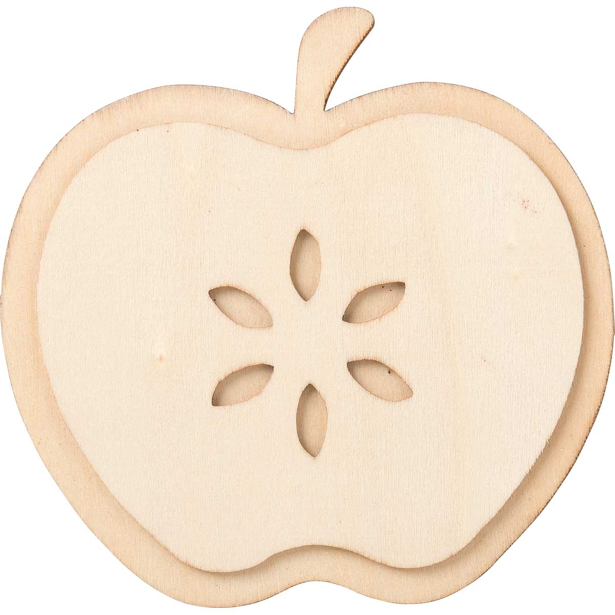 Plaid ® Wood Surfaces - Unpainted Layered Shapes - Apple