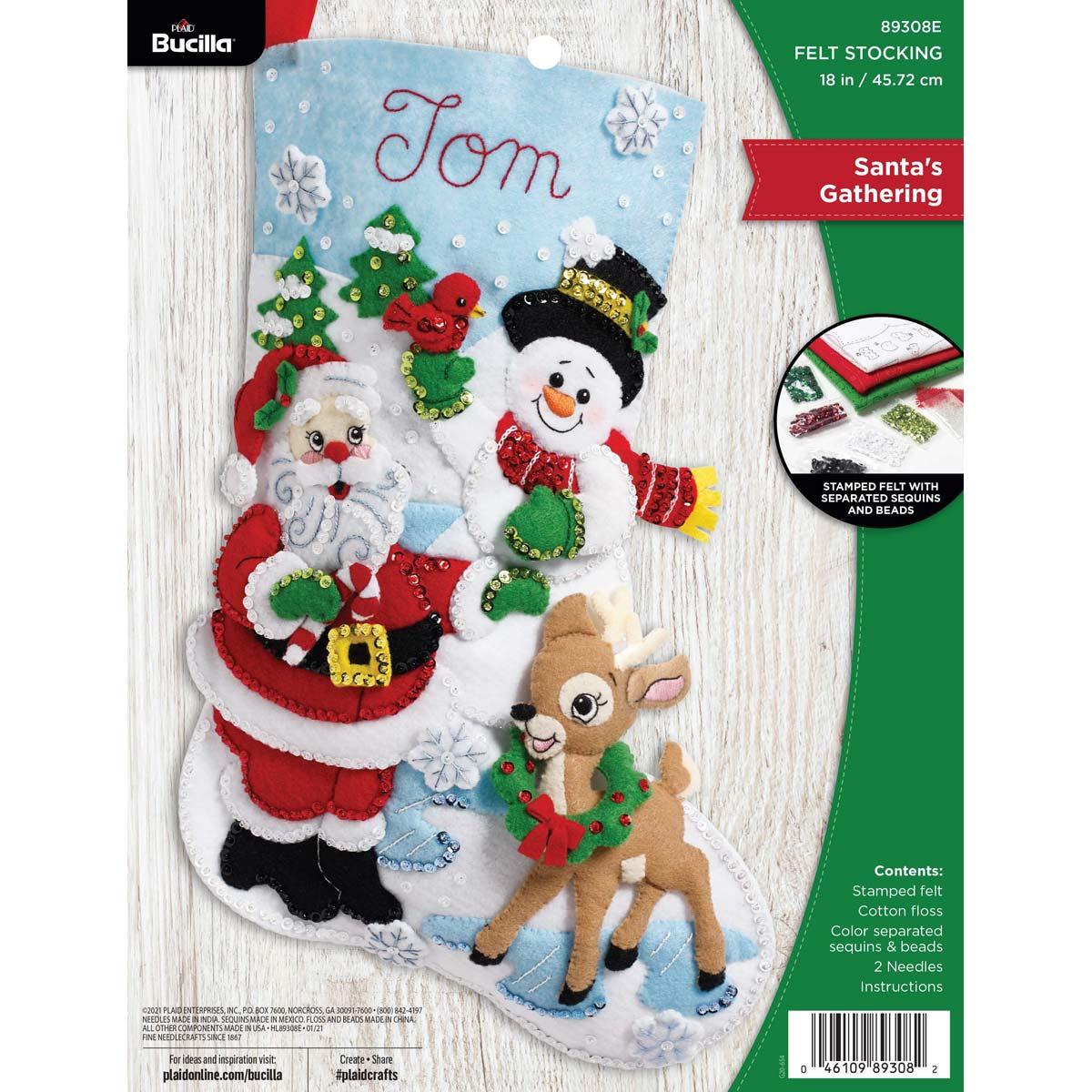 Bucilla ® Seasonal - Felt - Stocking Kits - Santa's Gathering - 89308E
