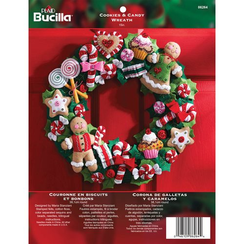 Bucilla ® Seasonal - Felt - Home Decor - Cookies and Candy Wreath - 86264