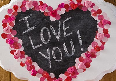 Valentine's Day Chalkboard Heart