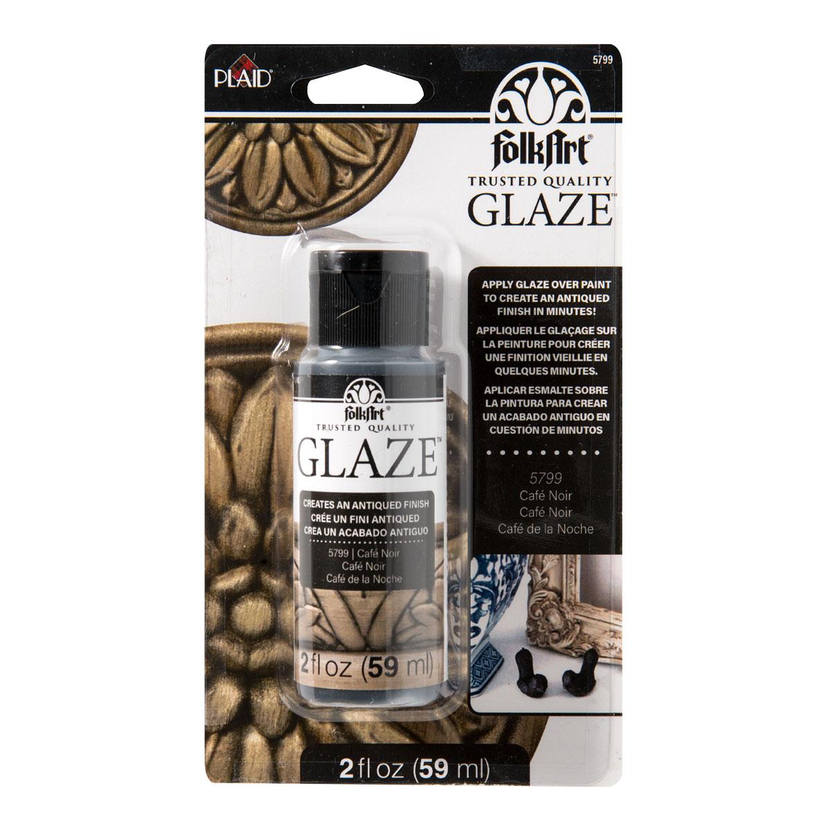FolkArt ® Glaze™ - Café Noir, 2 oz. Carded