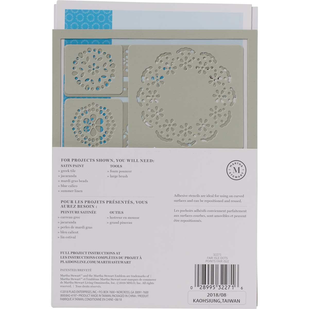 Martha Stewart ® Adhesive Stencil - Fair Isle Dots - 32271