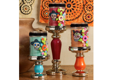 Day of the Dead Candle Centerpiece