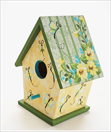 Daisy and Butterfly Birdhouse