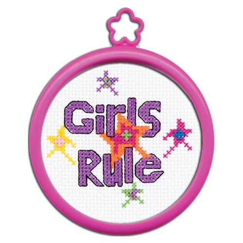 Bucilla ® My 1st Stitch™ - Counted Cross Stitch Kits - Mini - Girls Rule