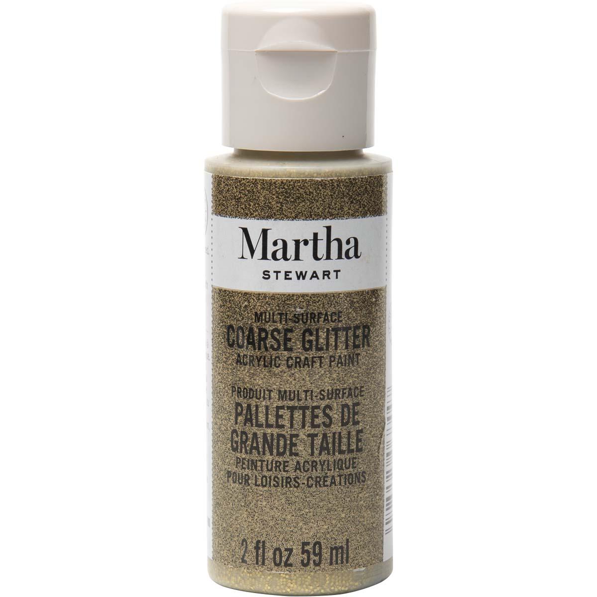 Martha Stewart ® Multi-Surface Coarse Glitter Acrylic Craft Paint - Florentine Gold, 2 oz. - 32961CA