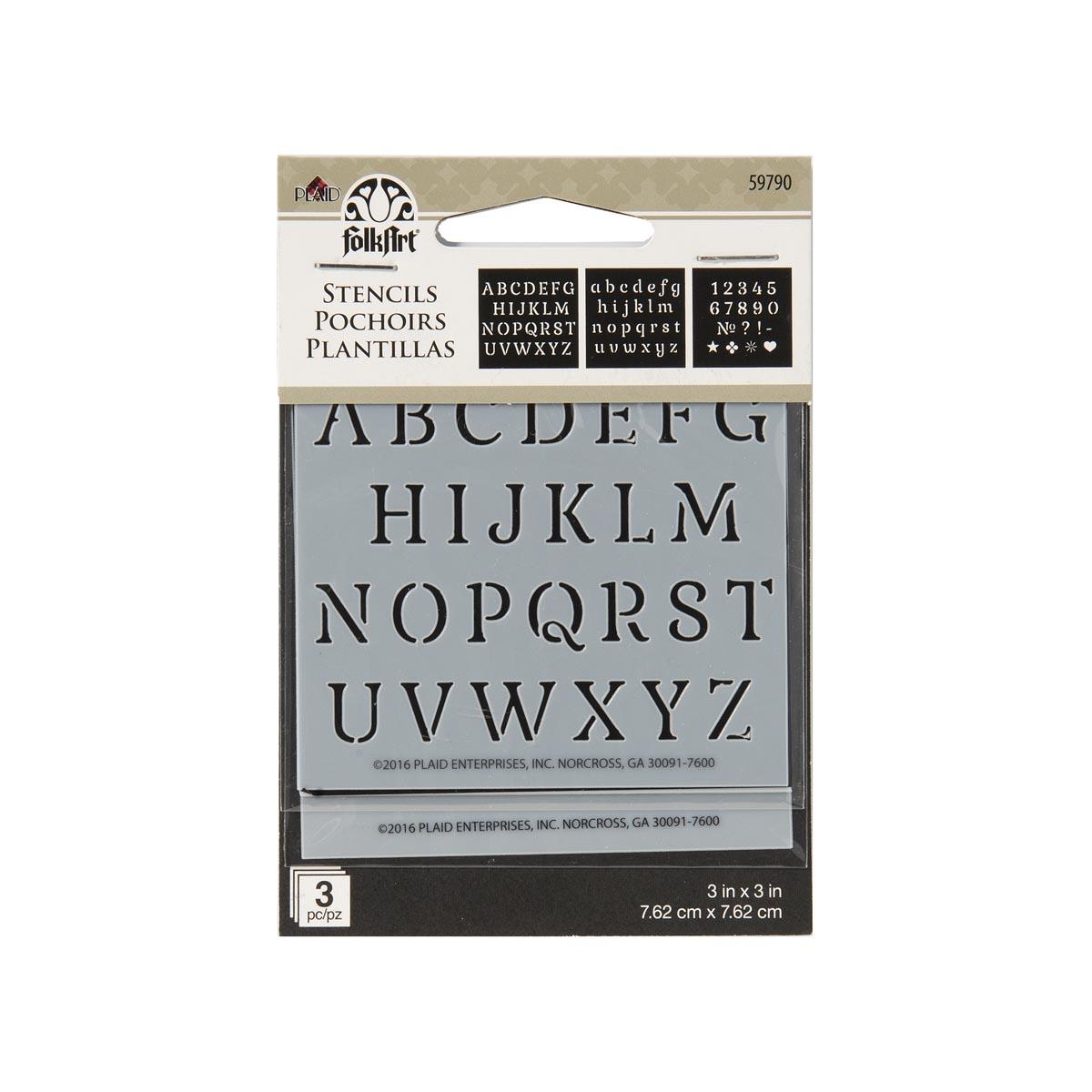 FolkArt ® Painting Stencils - Mini - Alphabet