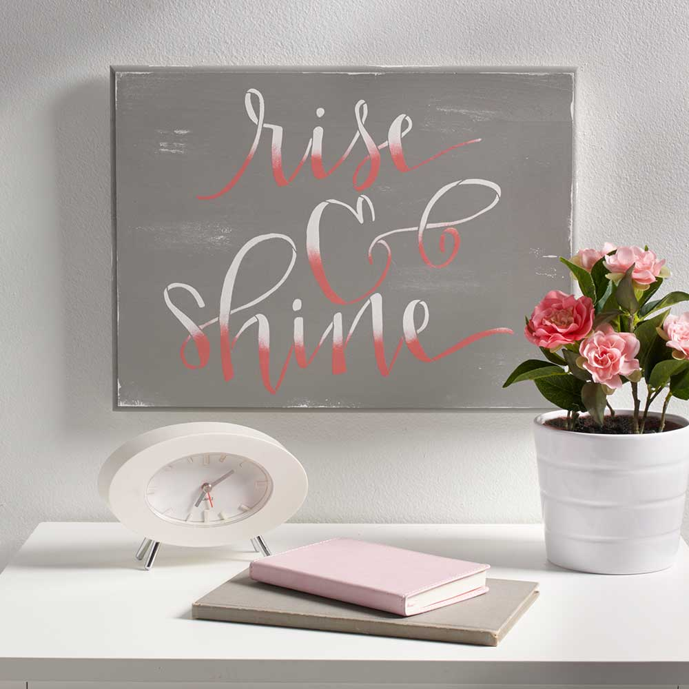 FolkArt ® Painting Stencils - Sign Making - Project Studio™ Rise & Shine - 63273