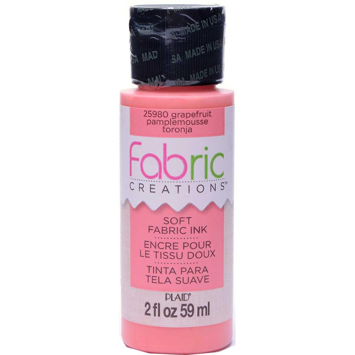 Fabric Creations™ Soft Fabric Inks - Grapefruit, 2 oz.