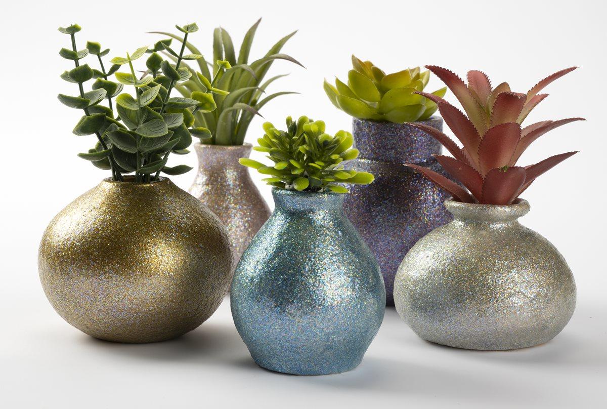 FolkArt Glitterific Fine Vases