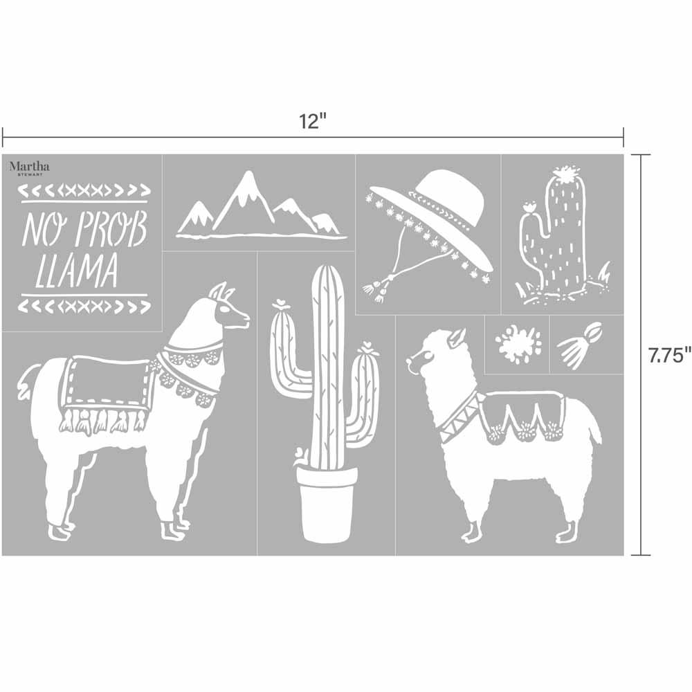 Martha Stewart® Adhesive Stencil - Llama & Alpaca