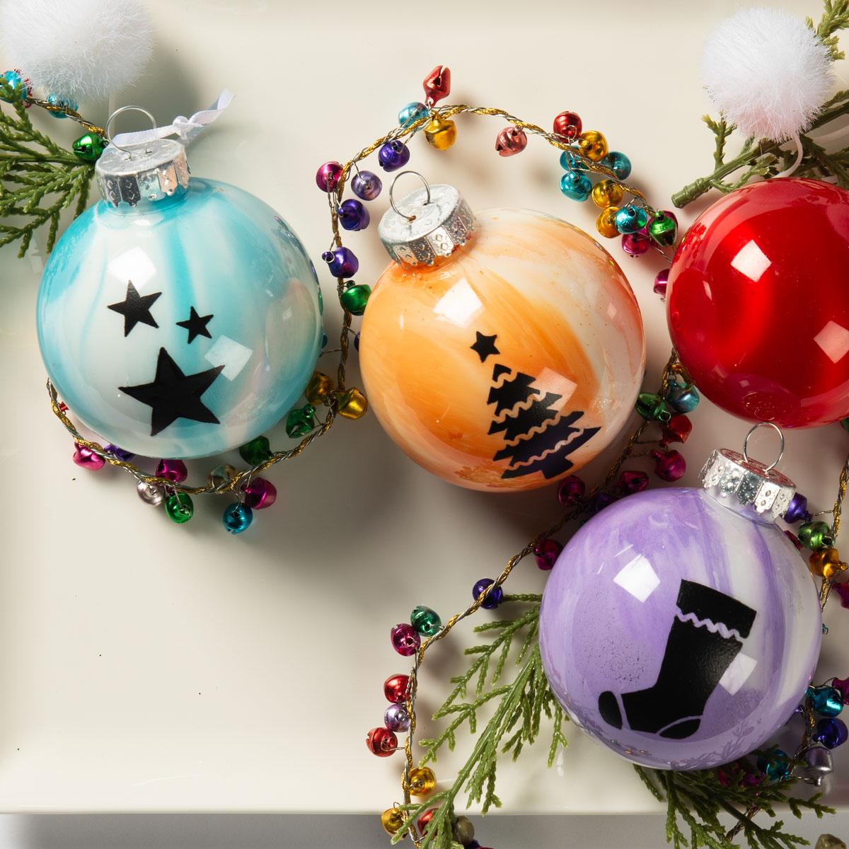 Apple Barrel Poured Ornaments