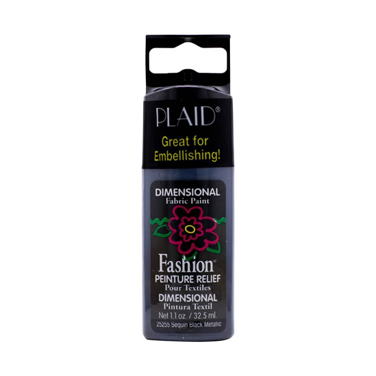 Fashion ® Dimensional Fabric Paint  - Metallic - Sequin Black