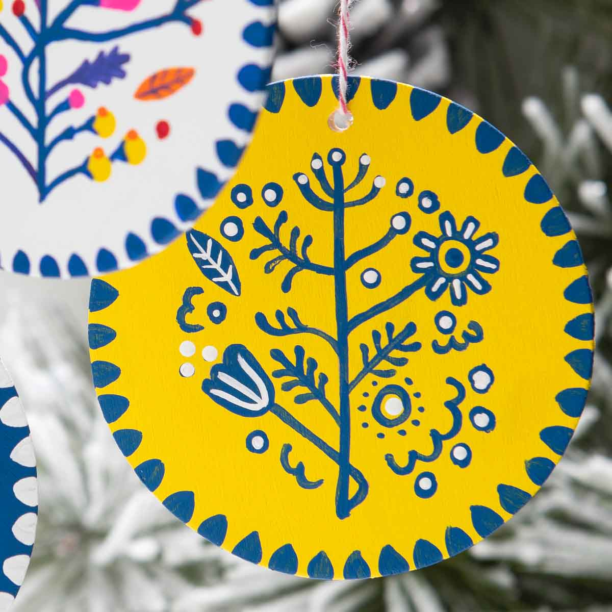 Hand-Painted Nordic Ornaments
