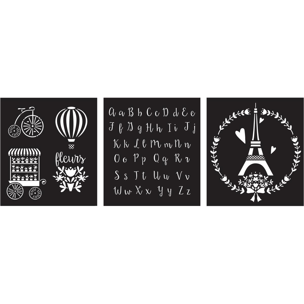 FolkArt ® Craft Stencils - Value Packs - Paris Sweet - 25613
