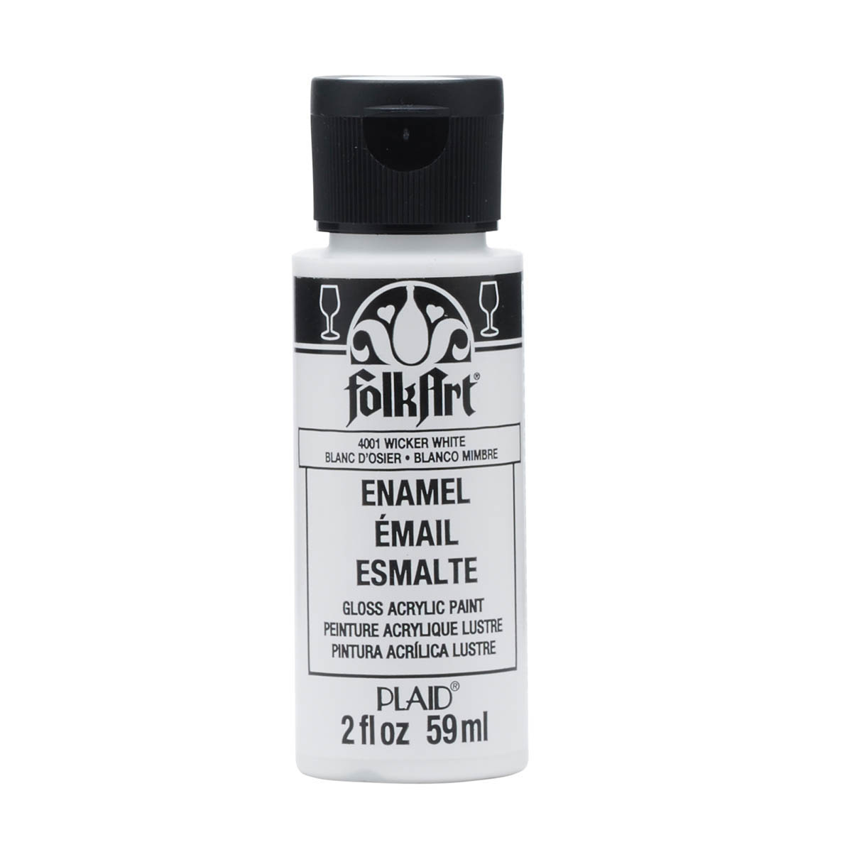 FolkArt ® Enamels™ - Wicker White, 2 oz. - 4001