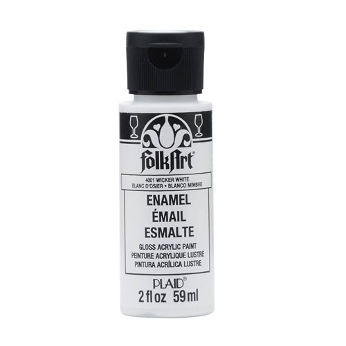 FolkArt ® Enamels™ - Wicker White, 2 oz.