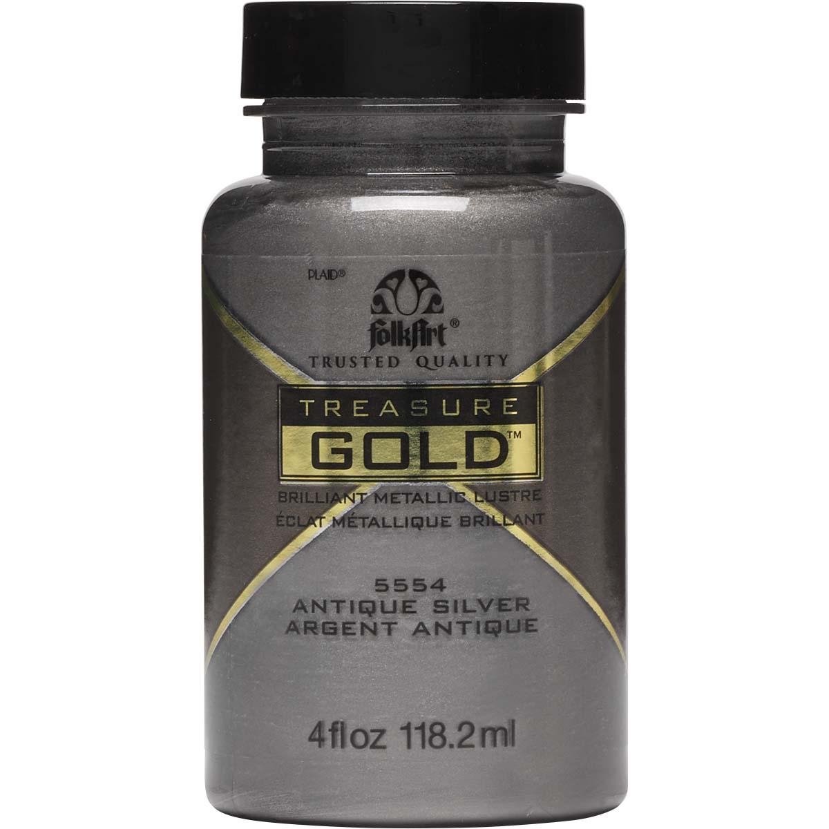 FolkArt ® Treasure Gold™ - Antique Silver, 4 oz. - 5554