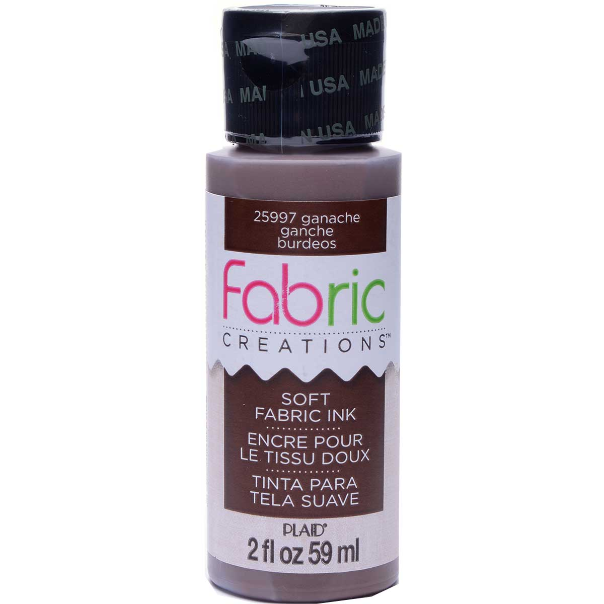 Fabric Creations™ Soft Fabric Inks - Ganache, 2 oz.