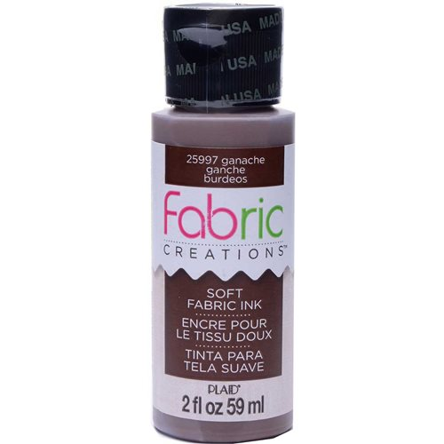 Fabric Creations™ Soft Fabric Inks - Ganache, 2 oz.