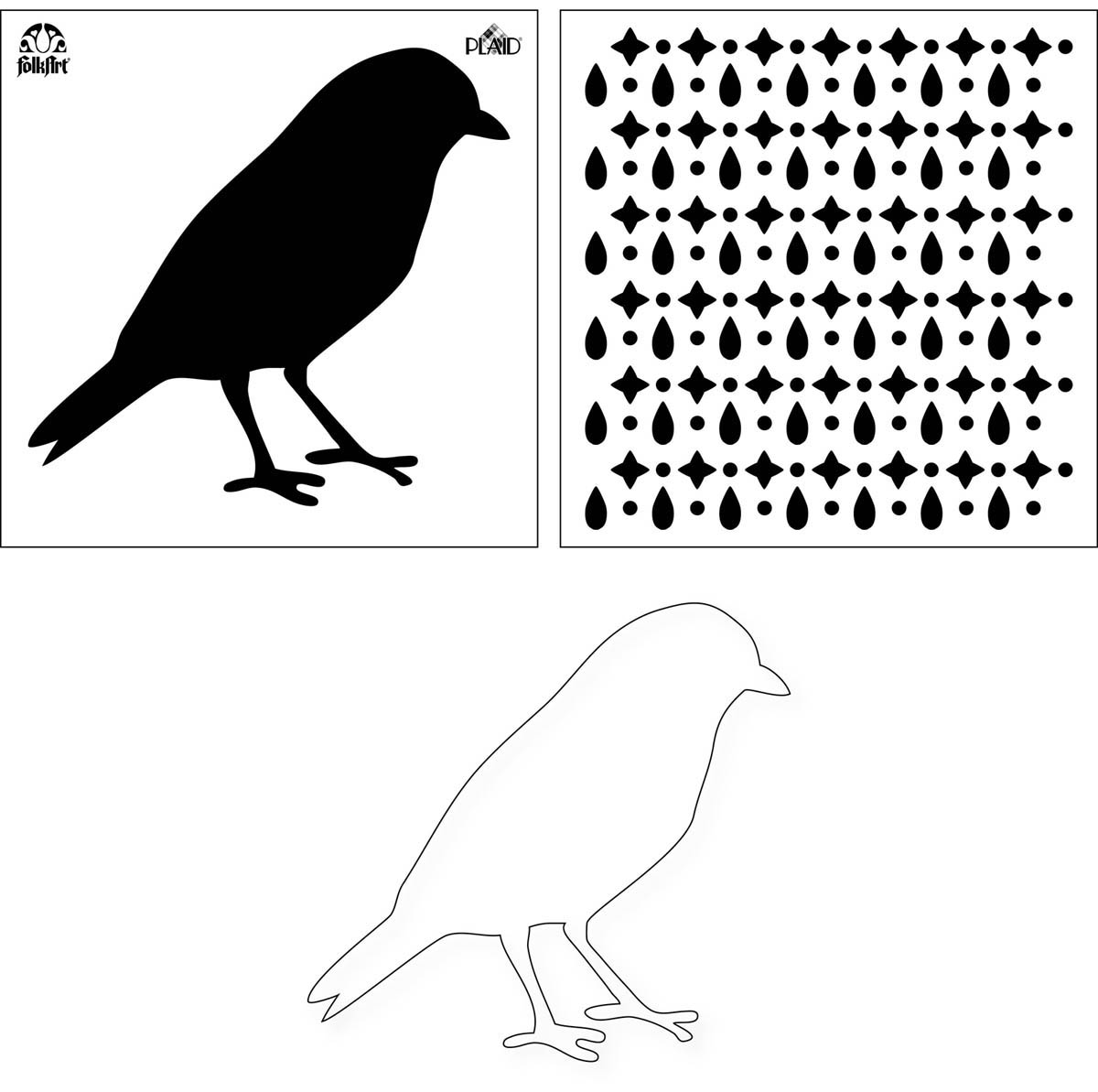 FolkArt ® Layering Stencils - Bird - MS31630