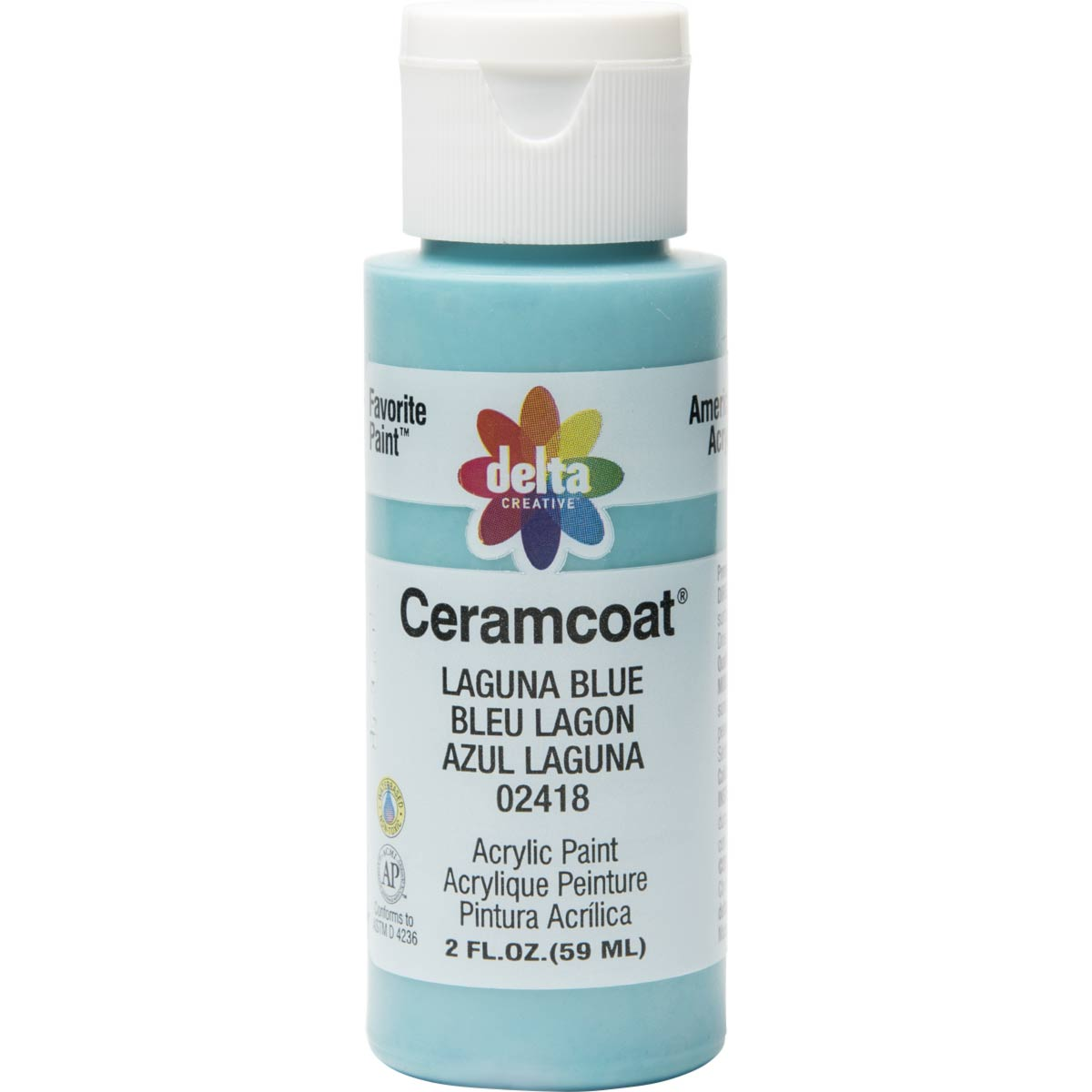 Delta Ceramcoat ® Acrylic Paint - Laguna Blue, 2 oz.