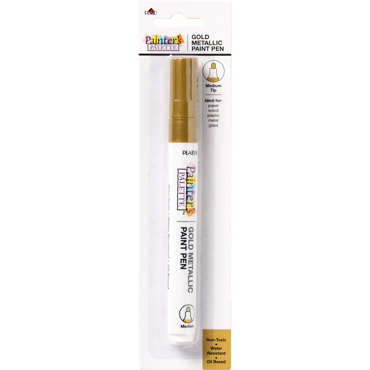 Plaid ® Painter's Palette™ Metallic Paint Pen - Gold - 23265