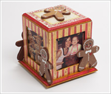 Gingerbread Photo Cube