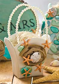 Flower Girl Basket for a Beach Wedding