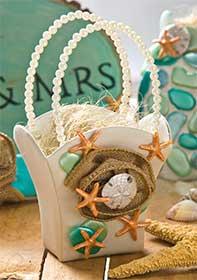 Flower Girl Basket for a Beach Wedding