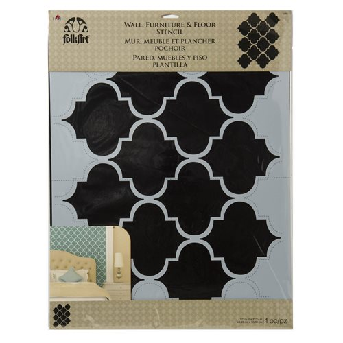F/A HOME DECOR TRELLIS WALL STENCIL